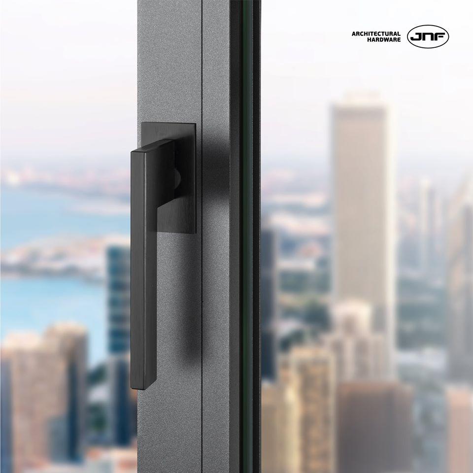 JNF įfrezuojamos durų bei langų rankenos! Vieningas dizainas.