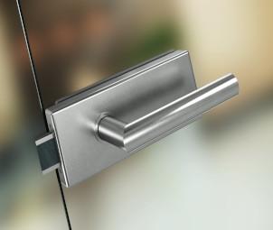 Stiklo durų furnitūra